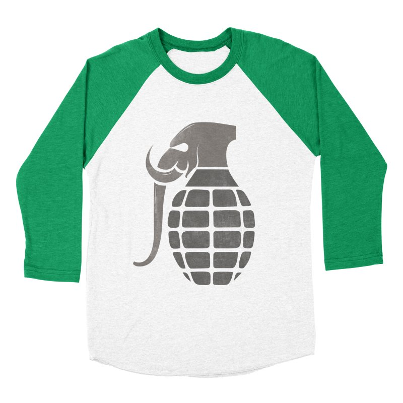 Elephant Grenade Men's Baseball Triblend T-Shirt by Diardo's Design Shop