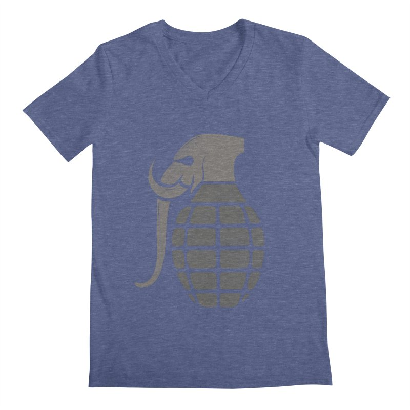 Elephant Grenade Men's V-Neck by Diardo's Design Shop