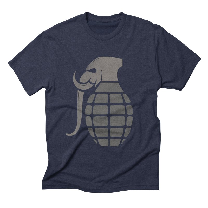 Elephant Grenade Men's Triblend T-shirt by Diardo's Design Shop