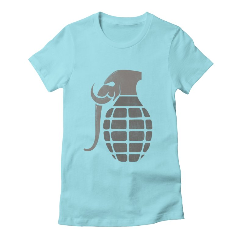 Elephant Grenade Women's Fitted T-Shirt by Diardo's Design Shop