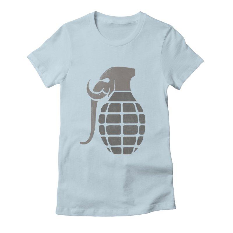 Elephant Grenade Women's Fitted T-Shirt by Diardo's Design Shop
