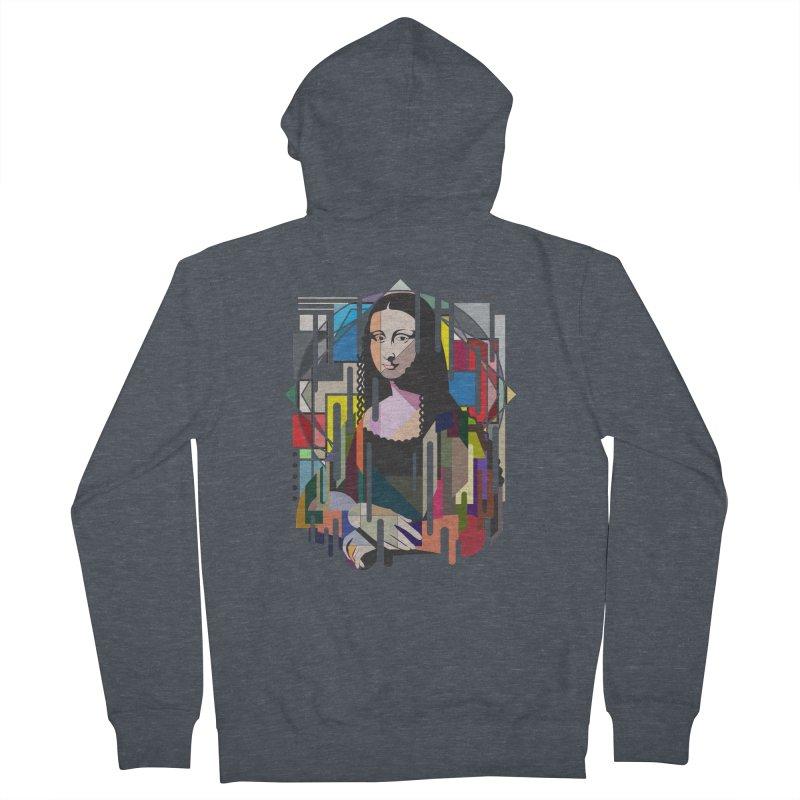 Monalisa met Picasso Men's Zip-Up Hoody by Diardo's Design Shop