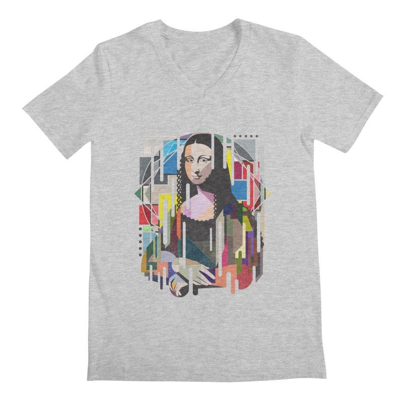 Monalisa met Picasso Men's V-Neck by Diardo's Design Shop