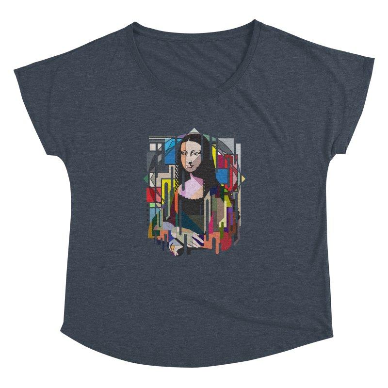 Monalisa met Picasso Women's Dolman Scoop Neck by Diardo's Design Shop