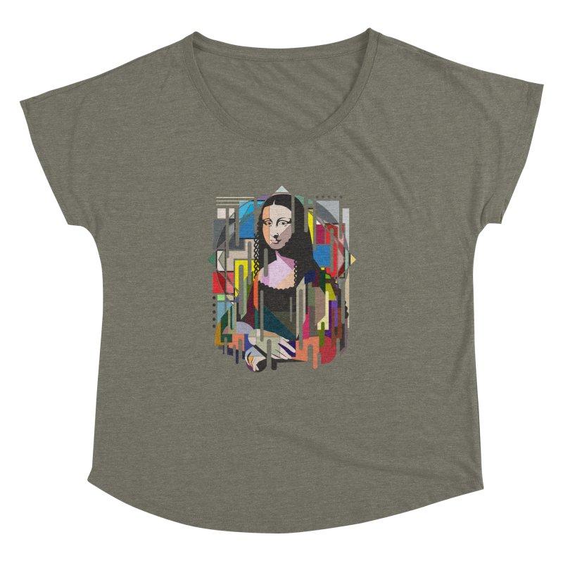 Monalisa met Picasso Women's Dolman by Diardo's Design Shop