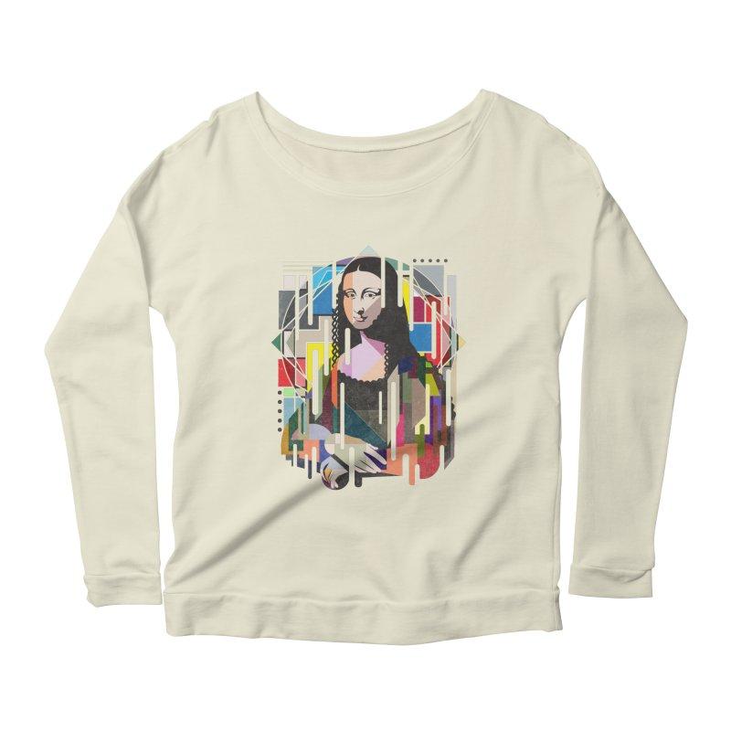 Monalisa met Picasso Women's Longsleeve Scoopneck  by Diardo's Design Shop