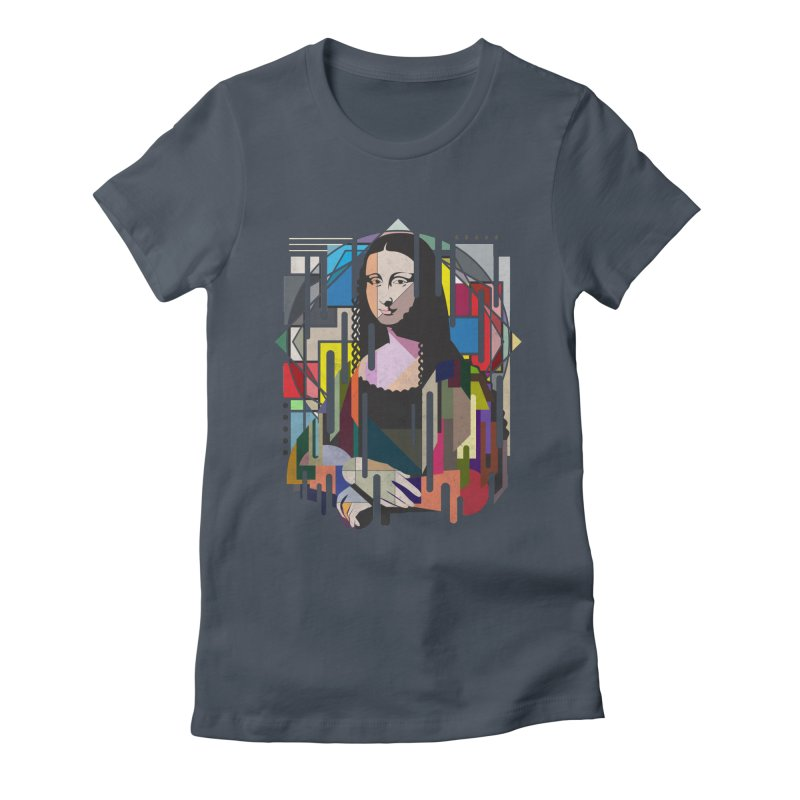 Monalisa met Picasso Women's Fitted T-Shirt by Diardo's Design Shop