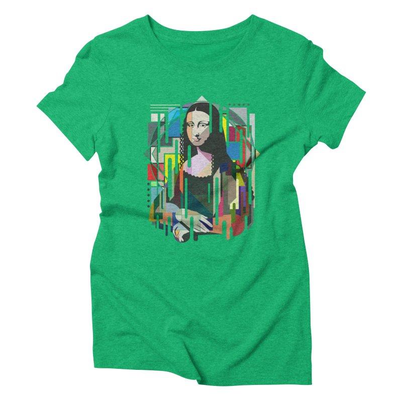 Monalisa met Picasso Women's Triblend T-shirt by Diardo's Design Shop