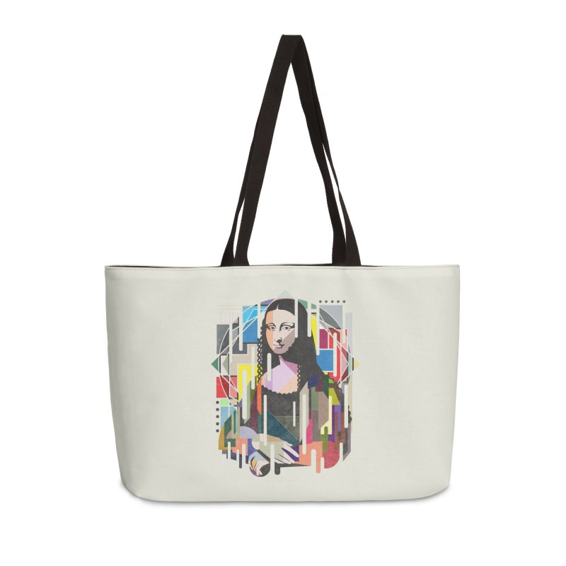 Monalisa met Picasso Accessories Weekender Bag Bag by Diardo's Design Shop