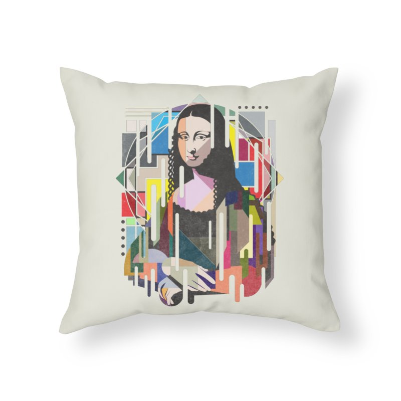 Monalisa met Picasso Home Throw Pillow by Diardo's Design Shop