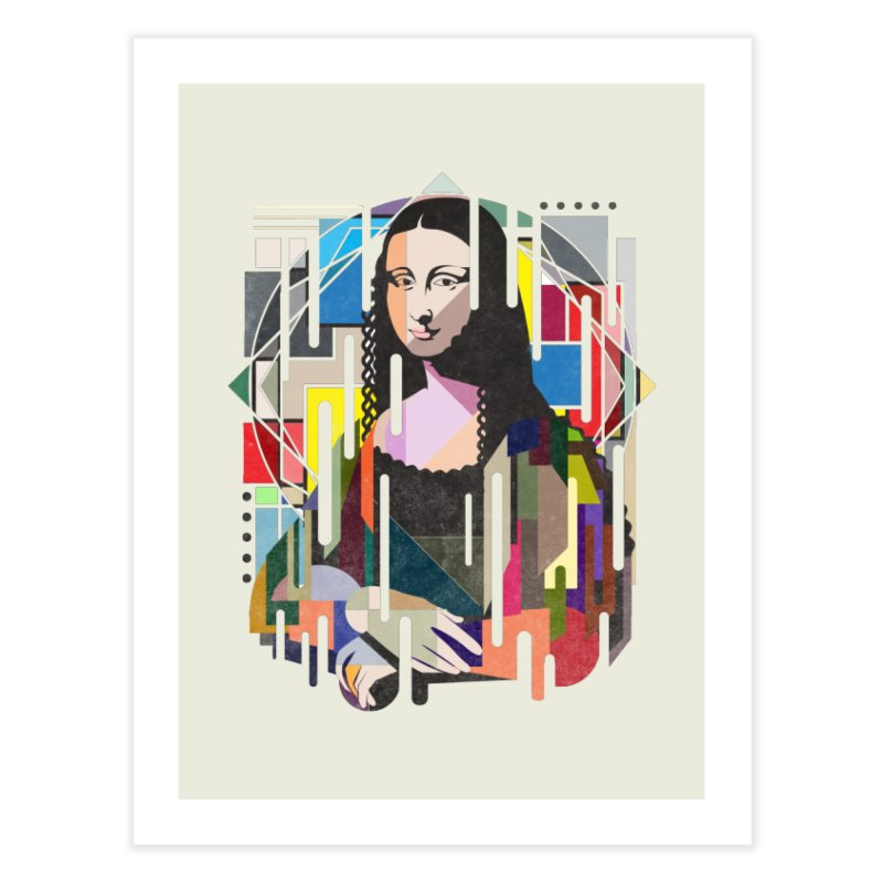 Monalisa met Picasso Home Fine Art Print by Diardo's Design Shop