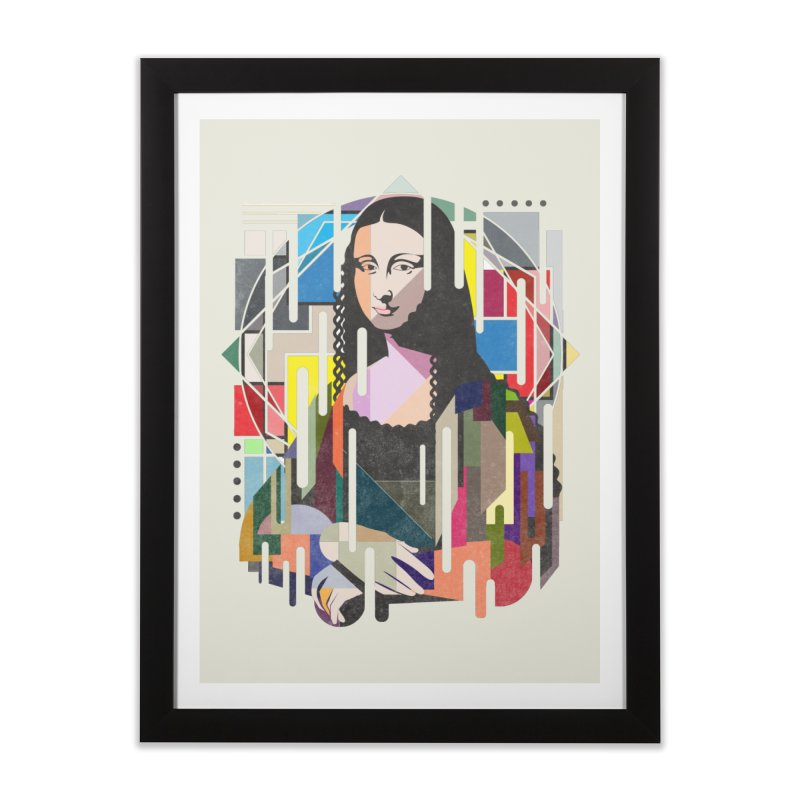 Monalisa met Picasso Home Framed Fine Art Print by Diardo's Design Shop