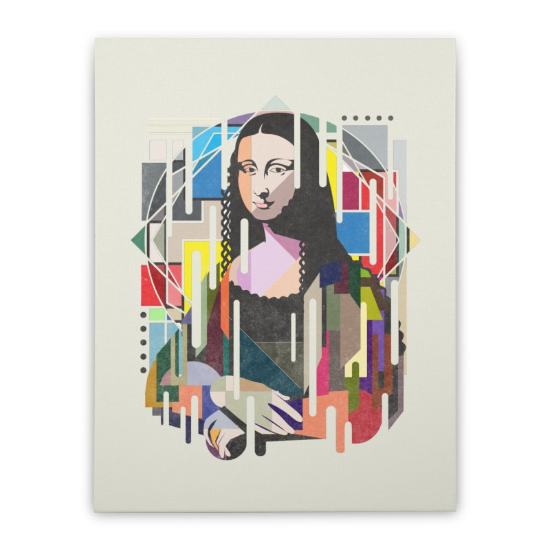 Monalisa met Picasso Home Stretched Canvas by Diardo's Design Shop