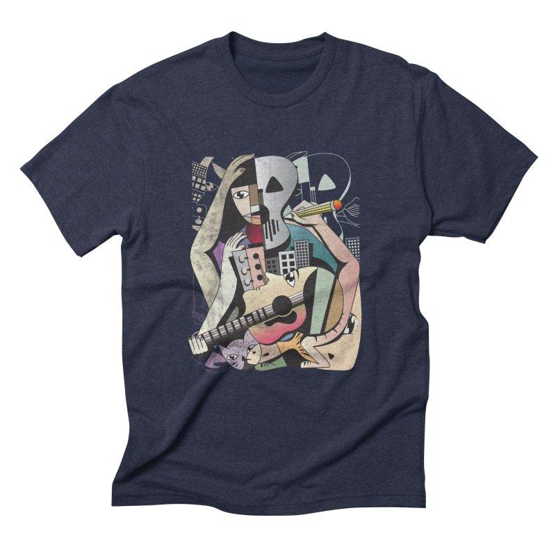Music, Art and Life Men's Triblend T-shirt by Diardo's Design Shop