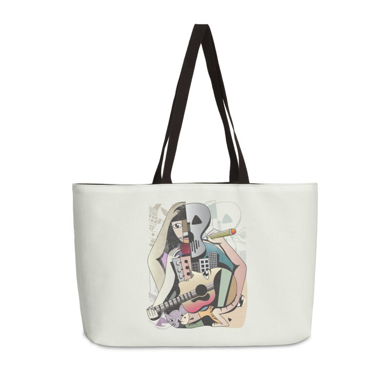 Music, Art and Life Accessories Weekender Bag Bag by Diardo's Design Shop
