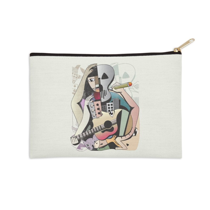 Music, Art and Life Accessories Zip Pouch by Diardo's Design Shop