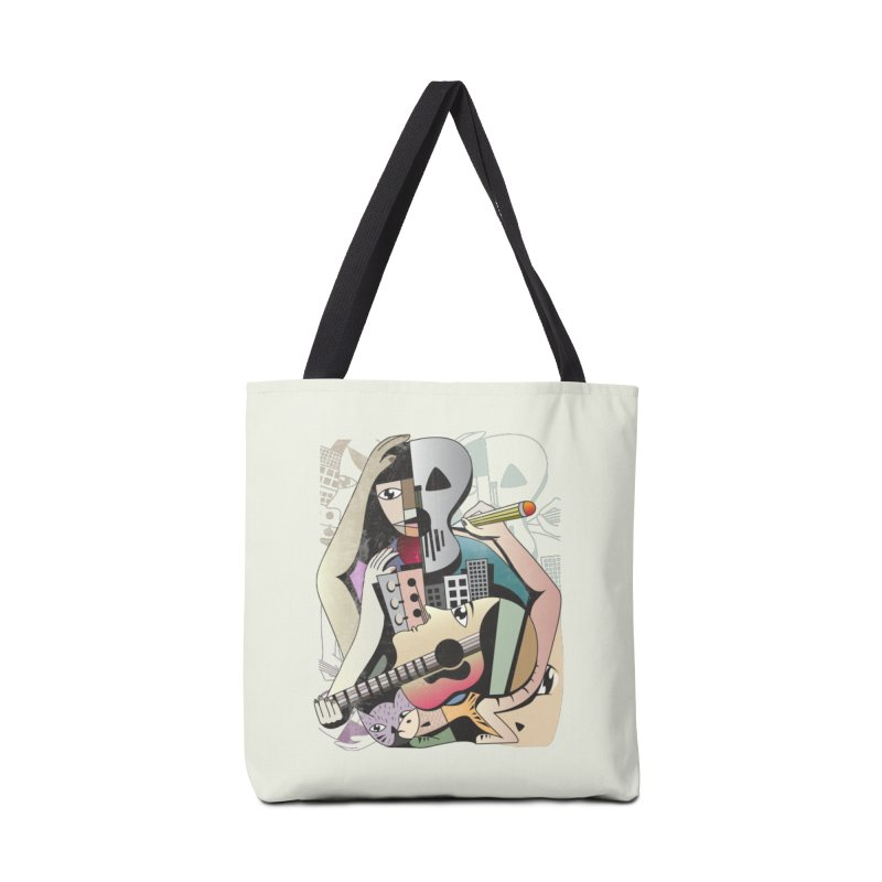Music, Art and Life Accessories Tote Bag Bag by Diardo's Design Shop