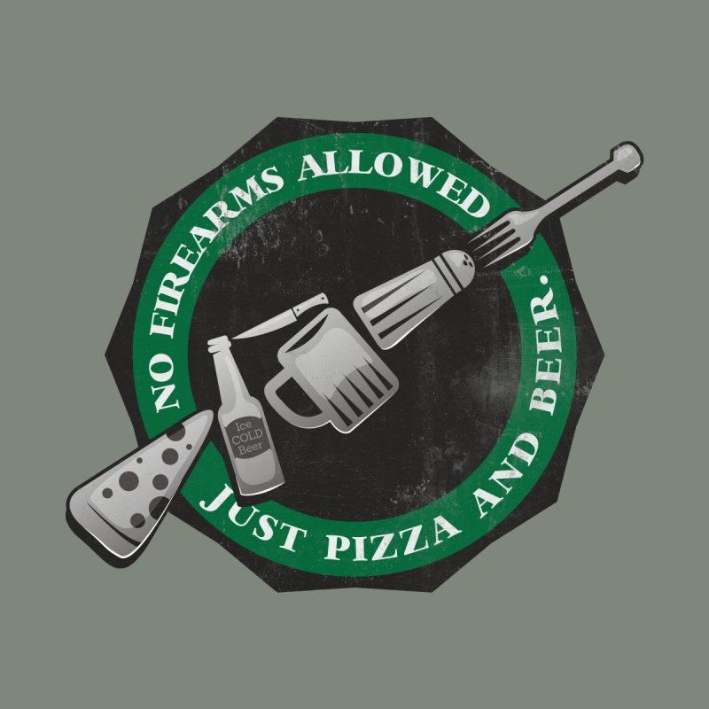 Just Pizza and Beer Men's T-Shirt by Diardo's Design Shop