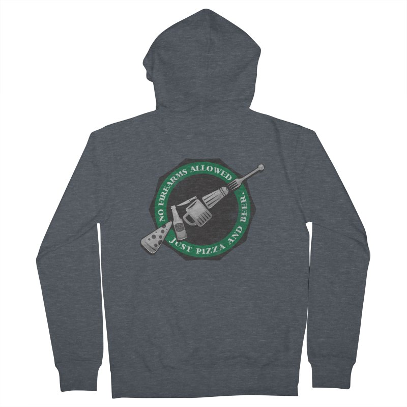 Just Pizza and Beer Men's French Terry Zip-Up Hoody by Diardo's Design Shop