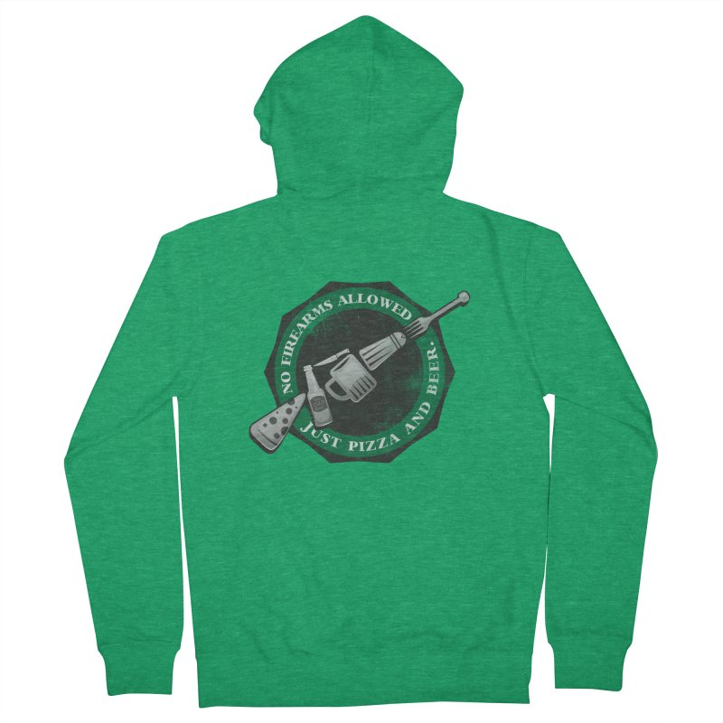 Just Pizza and Beer Men's Zip-Up Hoody by Diardo's Design Shop