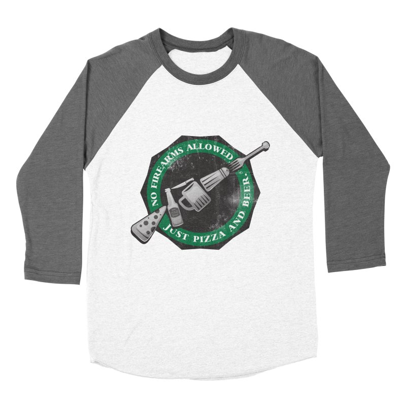 Just Pizza and Beer Men's Baseball Triblend Longsleeve T-Shirt by Diardo's Design Shop