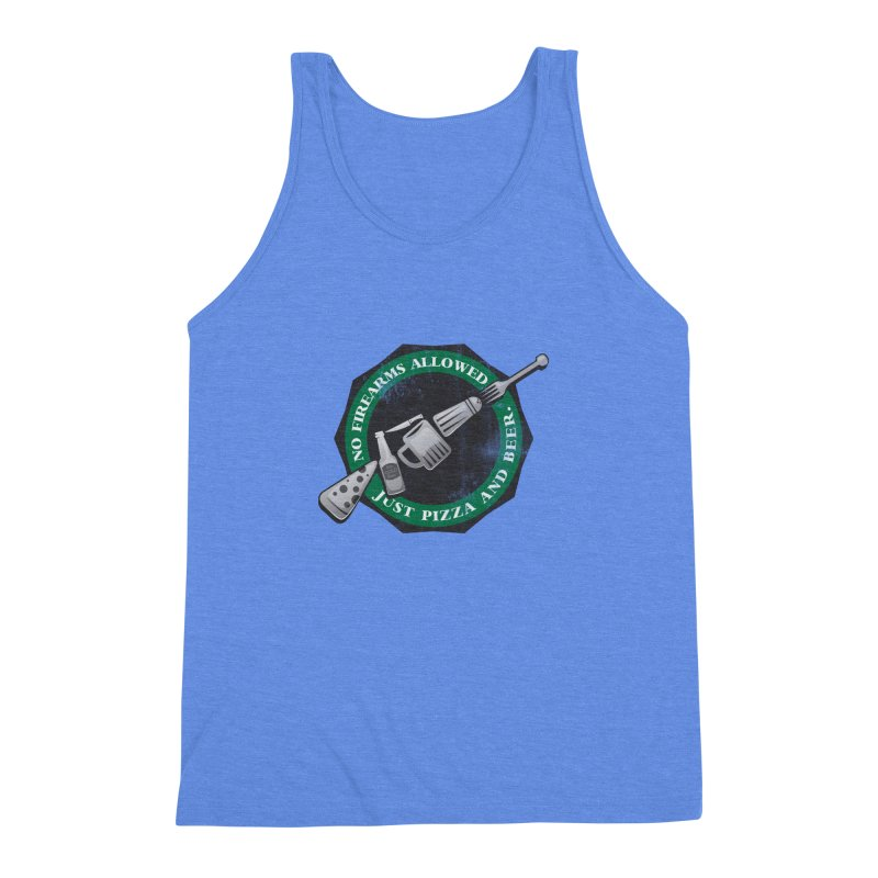 Just Pizza and Beer Men's Triblend Tank by Diardo's Design Shop