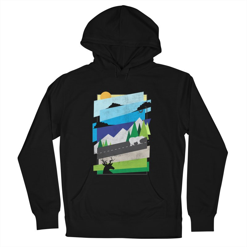 Beautiful Wild Women's French Terry Pullover Hoody by Diardo's Design Shop