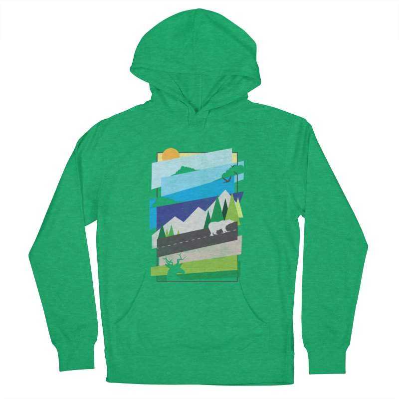 Beautiful Wild Men's French Terry Pullover Hoody by Diardo's Design Shop