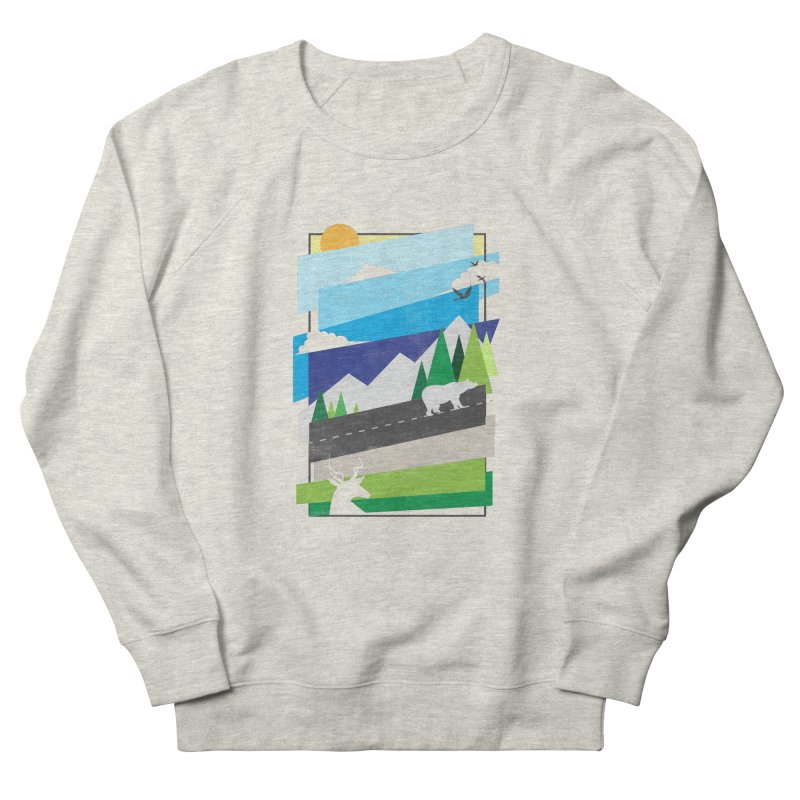 Beautiful Wild Women's French Terry Sweatshirt by Diardo's Design Shop