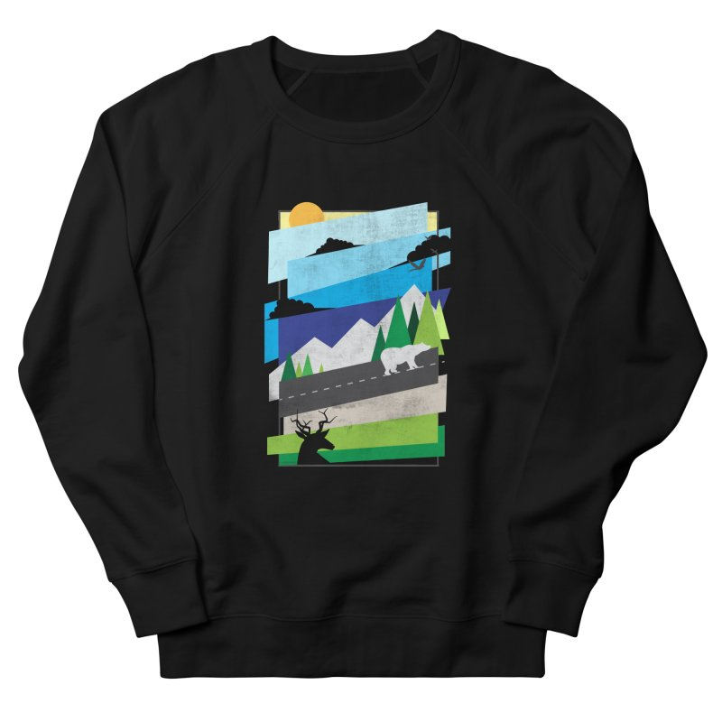Beautiful Wild Men's French Terry Sweatshirt by Diardo's Design Shop