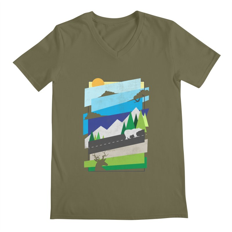 Beautiful Wild Men's V-Neck by Diardo's Design Shop