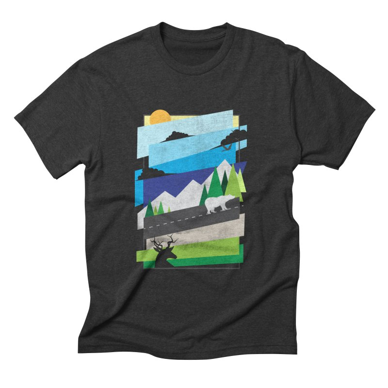 Beautiful Wild Men's Triblend T-shirt by Diardo's Design Shop