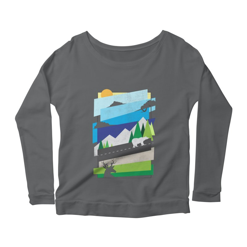 Beautiful Wild Women's Scoop Neck Longsleeve T-Shirt by Diardo's Design Shop