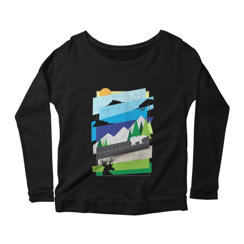 Beautiful Wild Women's Longsleeve Scoopneck  by Diardo's Design Shop