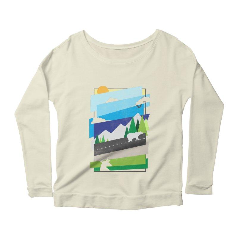 Beautiful Wild Women's Scoop Neck Longsleeve T-Shirt by Diardo's Design Shop
