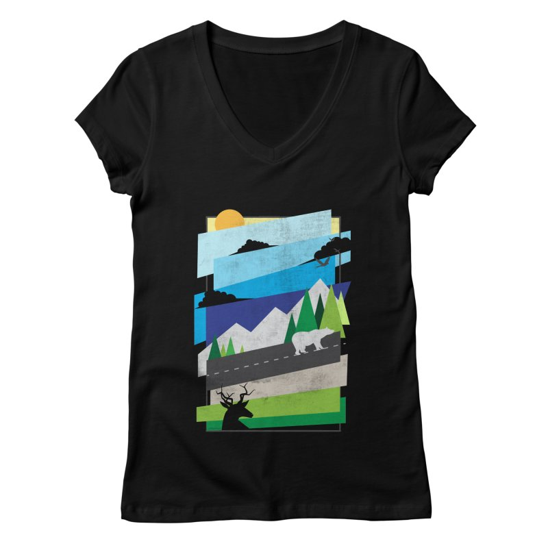 Beautiful Wild Women's Regular V-Neck by Diardo's Design Shop