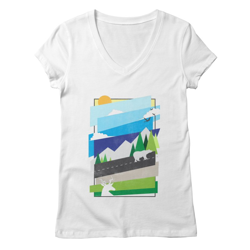 Beautiful Wild Women's V-Neck by Diardo's Design Shop