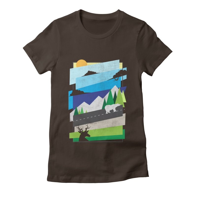 Beautiful Wild Women's Fitted T-Shirt by Diardo's Design Shop