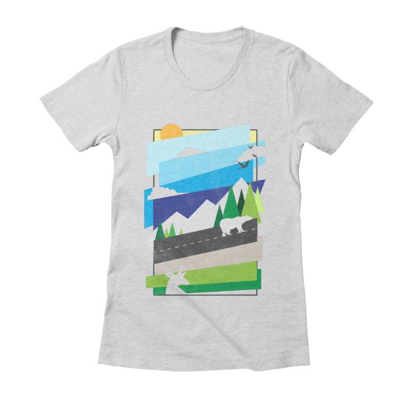 Beautiful Wild Women's Fitted T-Shirt by Diardo's Design Shop
