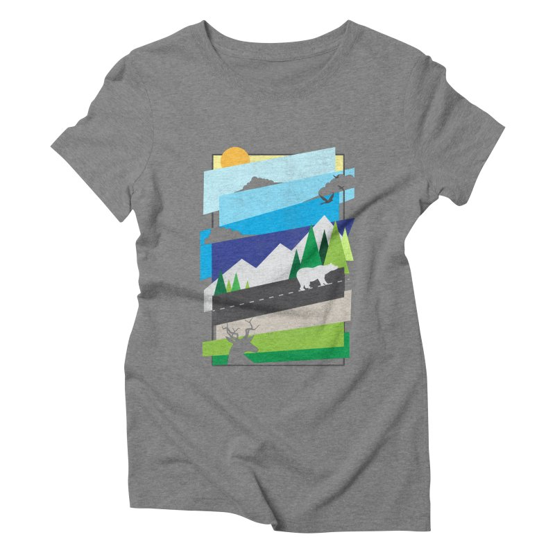 Beautiful Wild Women's Triblend T-Shirt by Diardo's Design Shop