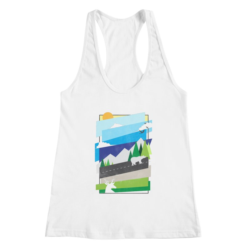 Beautiful Wild Women's Racerback Tank by Diardo's Design Shop