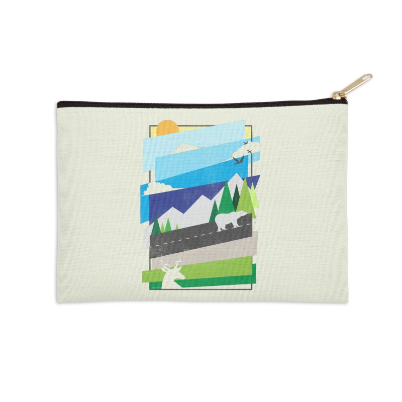 Beautiful Wild Accessories Zip Pouch by Diardo's Design Shop