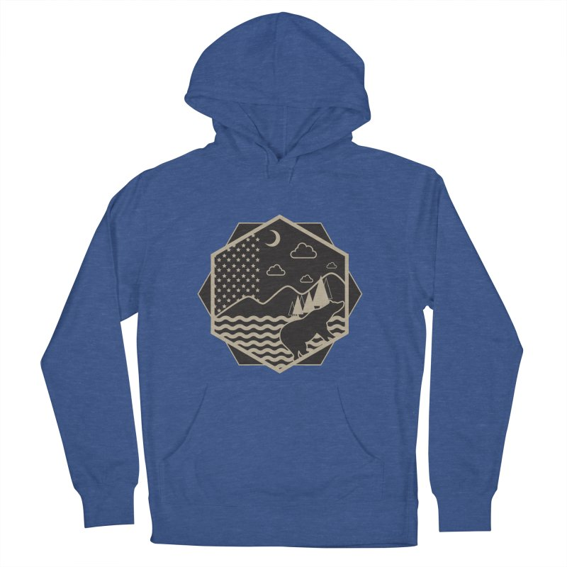 A night on the Wild Men's Pullover Hoody by Diardo's Design Shop