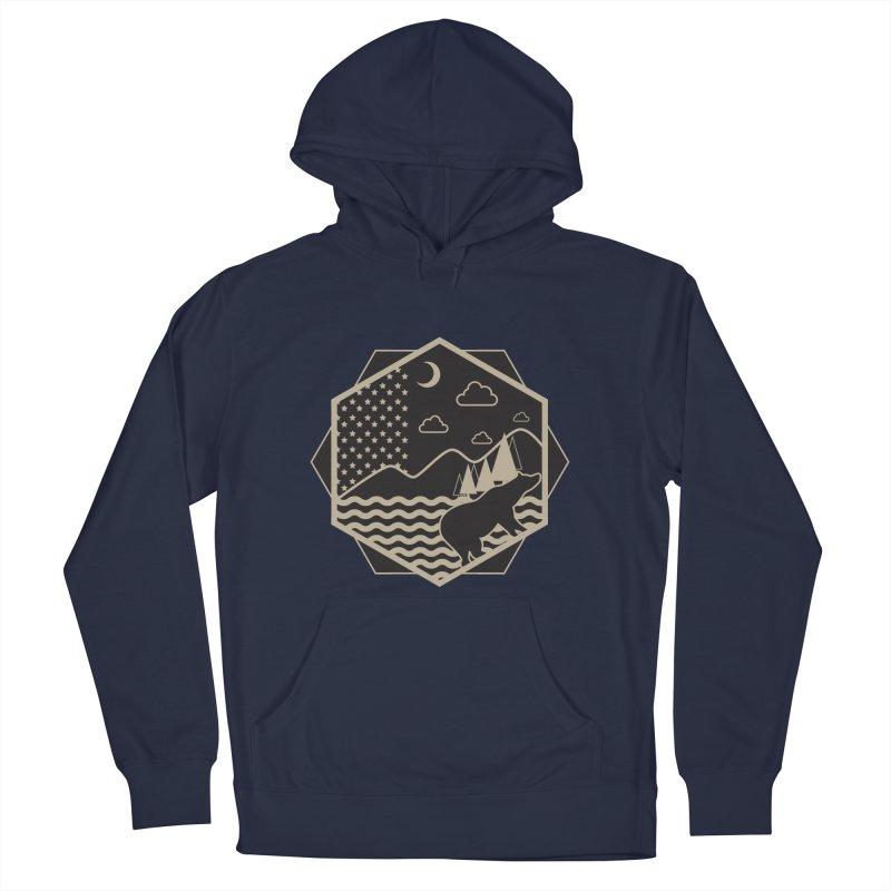 A night on the Wild Men's French Terry Pullover Hoody by Diardo's Design Shop