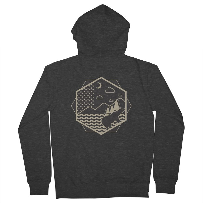 A night on the Wild Women's Zip-Up Hoody by Diardo's Design Shop