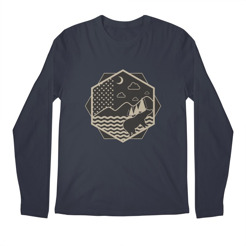 A night on the Wild Men's Longsleeve T-Shirt by Diardo's Design Shop