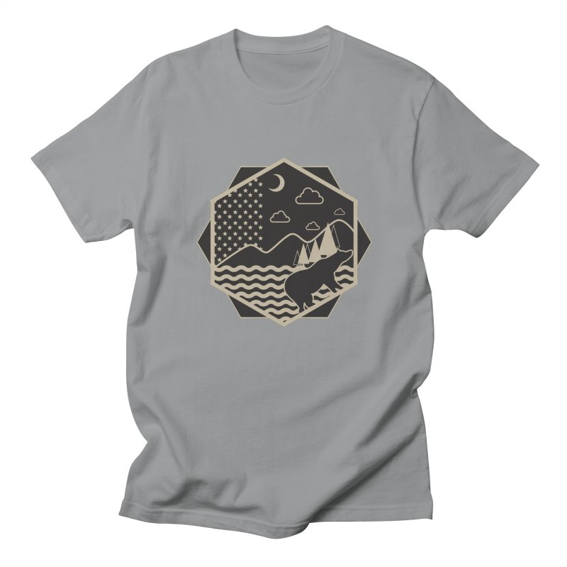 A night on the Wild Men's T-Shirt by Diardo's Design Shop