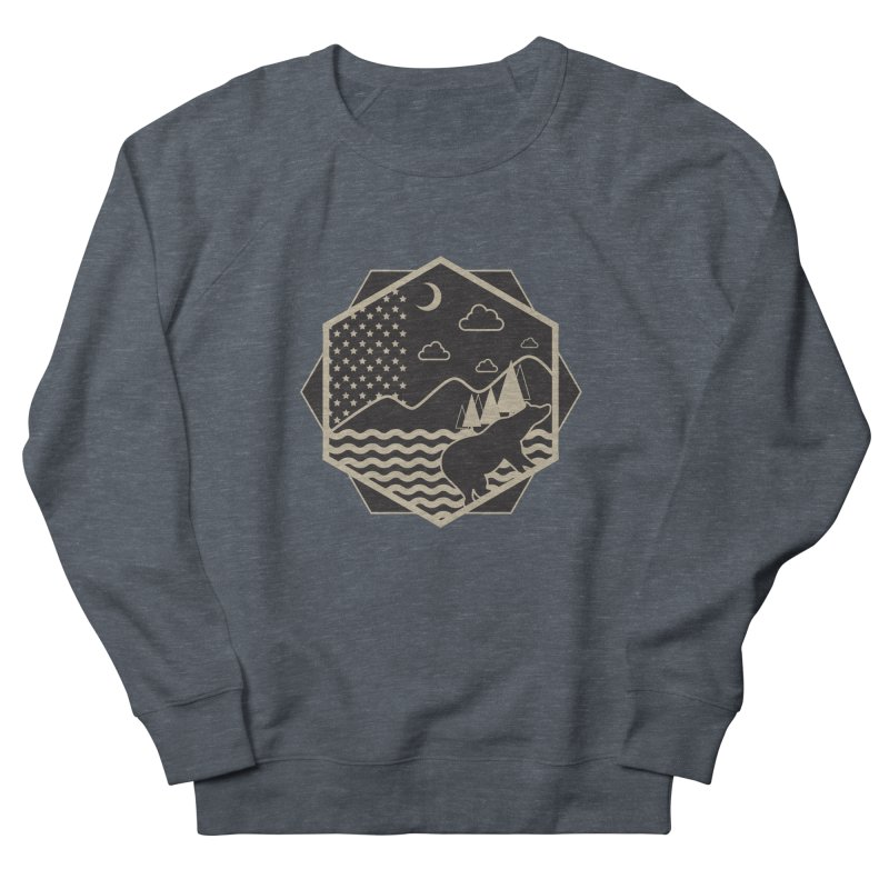 A night on the Wild Men's Sweatshirt by Diardo's Design Shop