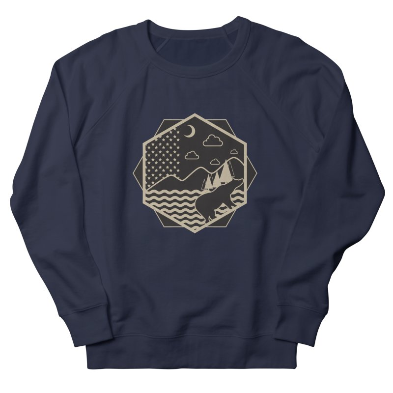 A night on the Wild Men's French Terry Sweatshirt by Diardo's Design Shop