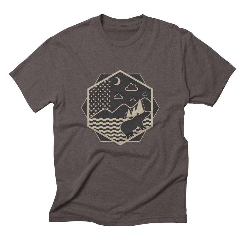 A night on the Wild Men's Triblend T-Shirt by Diardo's Design Shop